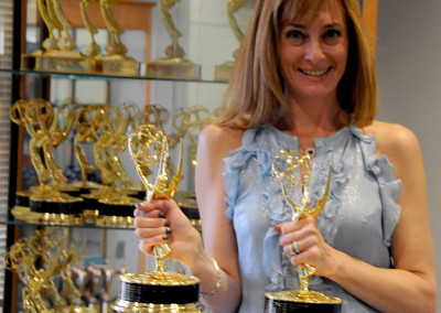 Founder Anna Stampfli and News 12 Emmy Award