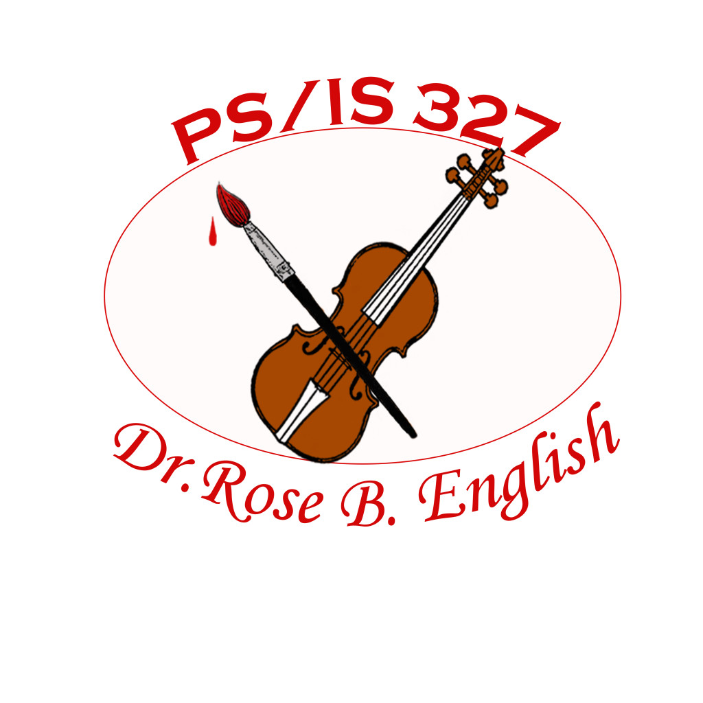 PS/IS 327 School Logo honoring the Scarsdale Strings partnership